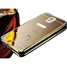 Vandot 1X Funda Case Cover Para Samsung Galaxy Note 3 N9000 Funda Ultra Slim Carcasa Resistente a Arañazos+ Aluminio Bumper Frame Case Parachoques Cover Dorado Dura y Delgada