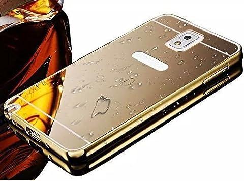 Vandot 1X Luxe Aluminium Metal Edging Bumper Edge Ultra-mince Thin Slim Miroir Arriere Protection du portefeuille de shell Cover Coque Housse Etui pour Samsung Galaxy Note 3