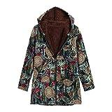 Resplend Winter Warme Overcoat Übergröße Outwear mit Kapuze Lange Ärmel Lose Jacke Parka Mantel Flauschiger Pelz Zipper Kapuzenmantel