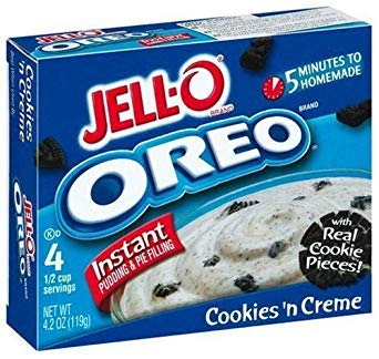2x Jell-O Instant Pudding & Pie Filling, Oreo Cookies 'n Cream aus den USA Jello Cookies