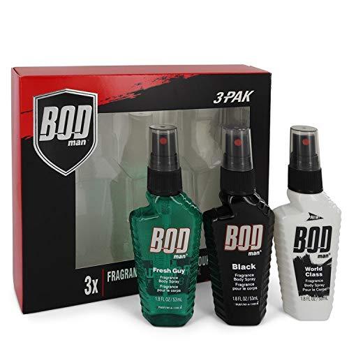 Bod Man Fresh Guy by Parfums De Coeur Gift Set - Includes Fresh Guy, Black and World Class all in 1.5 oz Body Sprays / - (Men) -