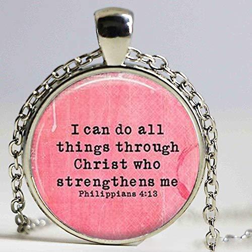 lskette mit Bibelvers 4:13 Bibelvers inspirierender Schmuck inspirierende Halskette ()