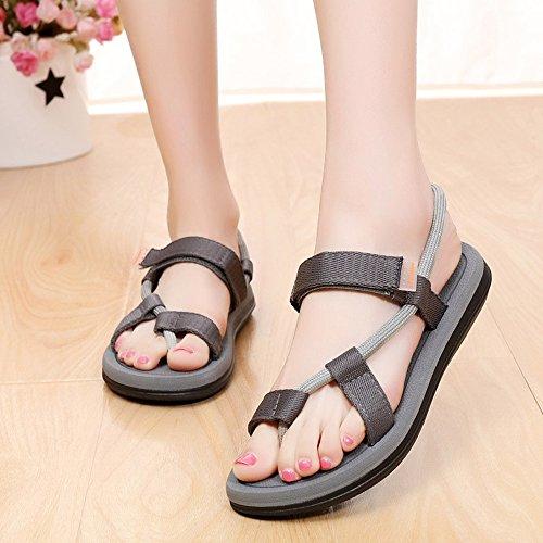 Donne sandali Flip-Flops per le donne / uomini Estate Summer Casual Flat Heels per passeggiate Confortevole ( Colore : 1001 , dimensioni : EU41/UK8/CN42 ) 1003
