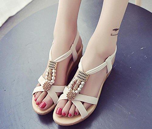 2017 nuova pendenza con sandali estate piatta con diamanti nelle scarpe aperte 1
