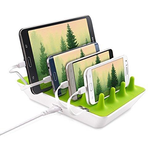 Gelid Solutions Zentree - Multi USB Ladestation - 4 Port USB Ladegerät für Smartphones, Tablets mit EU und US Stecker