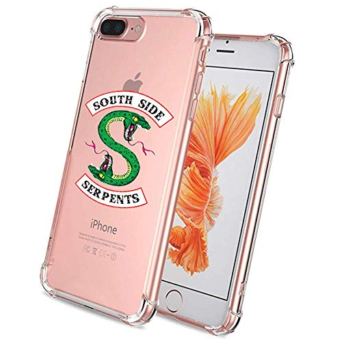 Riverdale Southside Schlangen iPhone 8 Plus Hülle iPhone 7 Plus Case Klar Case Weiche TPU Gel Bumper Stoßdämpfung Hülle für iPhone 8 Plus/7 Plus