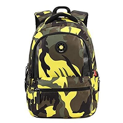 ONENICE Camouflage Printed Primary School Nylon Backpack - Ideal for 1-6 Grade School Students Boys Girls Daily Use and Outdoor Activities