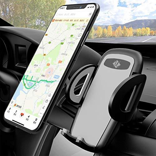 Handy Autohalterung : UziaK Auto Vent Halterung : Universal 360 Grad Drehung KFZ Lüftung Halter für Phone 11 Pro, Xs Max, XR, X, 8, 7, 6, Samsung S10 S9 S8 S7 S6 (Grey)