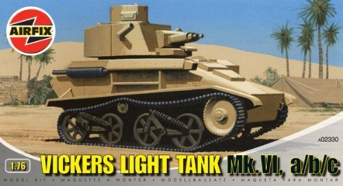 Airfix A02330 Vickers Light Tank 1:76 Scale Series 2 Plastic Model Kit by Airfix