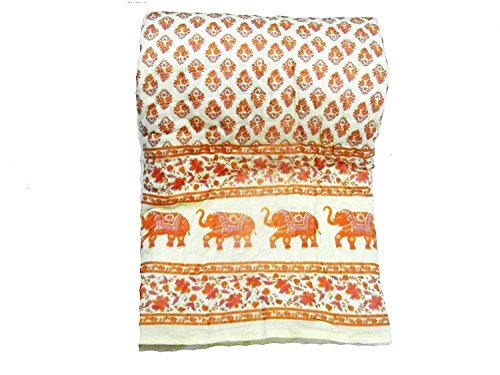 Avighna Traditional jaipuri printed 100% cotton Double bed Quilts/Razai Size 90 X...