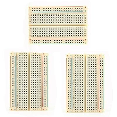 Klera's 3PCS Mini Solderless Breadboard,400 Ties Clear Circuit PCB Board Kit for Proto Shield Circboard Prototyping