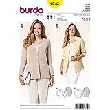 Burda patrón para tallas especiales de mujer Sastre Blazer chaqueta casual