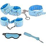 Saphira Sextoys. blue Constraint set . Bondage. Handcuffs necklace leash paddle. BDSM Esposas restringir restricciones