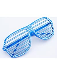 Baby Blue Party Brille NERD® Club Strass Look Brille 100% Original Shades Bla...