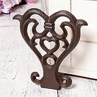 Estilo antiguo hierro fundido corazón puerta parada cuña–6th aniversario de boda/de regalo hermosa casa Accessory.