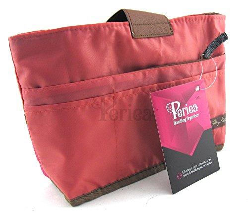 Periea Handtaschenordner, Einlage, Einsatz 10 Taschen groß 28x16.5x7cm - Tolla rosa