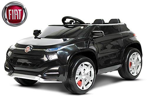 Lizenz Kinder Elektro Auto Fiat FCC4 2x 15W 6V 2.4G RC, Farbe:Schwarz