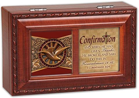 Cottage Garden Confirmation Religious Petite Music Musical Jewelry Box Plays Thy Faithfulness by Cottage Garden