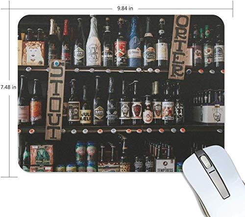 Mauspads Premium-Mauspad mit Strukturiertem Bierzähler rutschfestes Mousepad auf Gummibasis für Spiele Computer Laptop