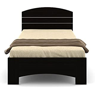 Spacewood Nobel Single Size Engineered Wood Bed  Particle Board   Natural Wenge
