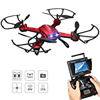 Potensic Drone with HD Camera, F181DH RC 5.8Ghz FPV Quadcopter Drone RTF Altitude Hold UFO with Newest Hover and 3D Flips, Stepless-speed Function, 2MP HD Camera & LCD Screen Monitor from Potensic