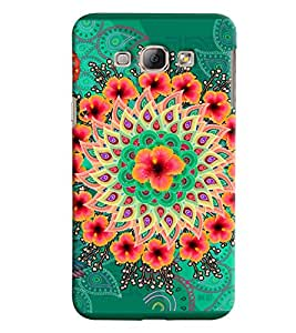 Blue Throat Rangoli Made Of Flower Printed Designer Back Cover For Samsung Galaxy A8