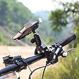 1byone Fahrrad-Handyhalterung, Halterung am Lenker für Smartphones und GPS Geräte, Einfacher Anbau, Stabil und gut geschützt. Farbe: Schwarz - 5