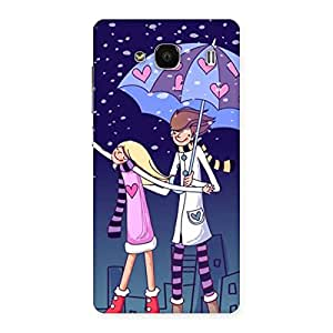 Enticing Anime Couple Multicolor Back Case Cover for Redmi 2