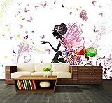 Fototapete Schmetterlingselfe Vliestapete Wandtapete - Tapete - Moderne Wanddeko - Wandbilder - Fotogeschenke - Wand Dekoration, wandmotiv24, Größe: XXL 400 x 280 cm - 8 Teile - Vlies