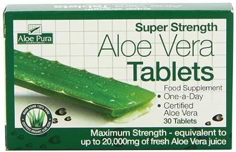Super Strength Aloe Vera Tablets 20,000mg - 30