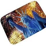 Gnzoe Flanell Teppich Feuerwerk Feier Muster Design Muster Teppiche für Flur Schlafzimmer Bunt 60x90CM
