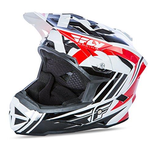 Fly 2017Bike Standard MTB DOWNHILL BMX Full Face Erwachsene Helm rot/schwarz/weiß (Full-face Bmx Helme)