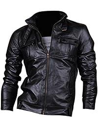 Jeansian Top De Cuero De Abrigos De Moda Para Hombre Chaqueta Mens Fashion Jacket Outerwear Leather Top 8910
