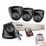 Best Caméras Zosi - ZOSI AHD 720P 8CH DVR Enregistreur Vidéosurveillance 4pcs Review