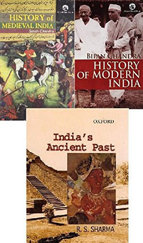 """History of medieval india & History of Modern India & india""""s ancient past three book set"""