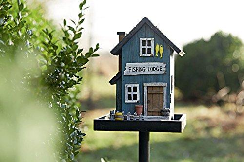 miaVILLA Futterhaus für Vögel – Vogelfutterhaus mit Ständer – Holz – Bunt - 5