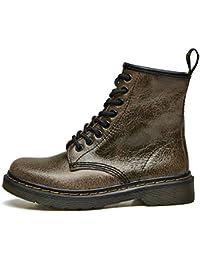 c4c145307681 uBeauty Damen Chelsea Boots Martin Stiefel Flache Boots Klassischer  Stiefeletten Schnüren Freizeitschuhe
