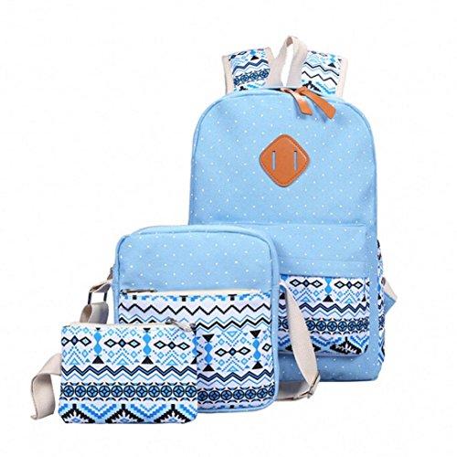 YOUBan Damen Handtasche Schulter Schultasche Rucksack Tasche Crossbody Einkaufstasche Clutch Handtasche Tasche Mädchen Leinwand Rucksack