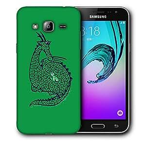 Snoogg Green Dragon Designer Protective Back Case Cover For SAMSUNG GALAXY J3/J3 2016 J310