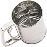 Kitchen Craft Stainless Steel Three Cup Trigger Action Flour Sifter