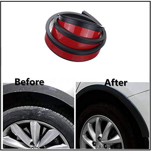 2 STÜCKE Automotive Universal Breite Carbon Rad Augenbrauen Gummi Auto Radlaufschutz