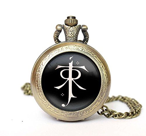 lord-of-the-rings-quartz-pocket-watch-necklace-antique-bronze-effect-gift-boxed-with-free-spare-batt