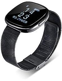 84bca816ed3a Reloj Inteligente Smartwatch con Bluetooth Fitness Tracker Pulsera  Actividad Inteligente Podómetro Reloj Deportivo…