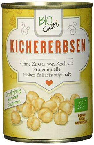 Biogustí Kichererbsen Bio, 12er Pack (12 x 400 g)