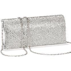 Girly HandBags Nuevo Diamante Moldeada del Bolso de Embrague del Estuche Rígido de Noche Barnizado de Bodas de Diamante Pequeño