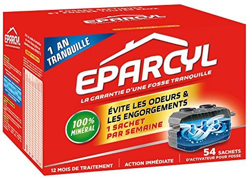 Eparcyl Entretien fosse septique - Activateur pour fosse – 1 an de traitement - 54 sachets