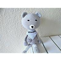 Baby Kuscheltier mit Namen bestickt / 100 % Handmade Baby Häkeltier