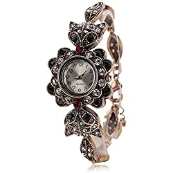 Bonamana Vintage Quartz Watch Fox Art Design Bracelet for Women Teenage Girls Watch
