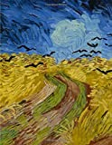 Wheatfield with crows, Vincent van Gogh. Blank journal: 150 blank pages, 8,5x11 inch (21.59 x 27.94 cm) Soft cover