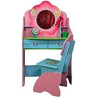 Preisvergleich für Antyki24 Schminktisch Stuhl Fee Fairies Schreibtisch Kinderzimmer Pink Rosa 120 x 68 x 39 cm